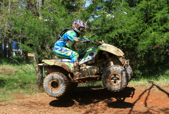 Bryan Hulsey on his way to a podium in a GNCC race