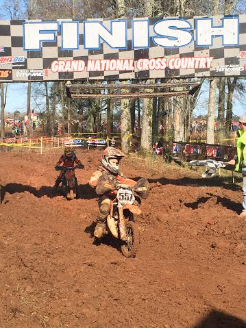 Young Caleb Baltimore finishing top of his class for another podium finish